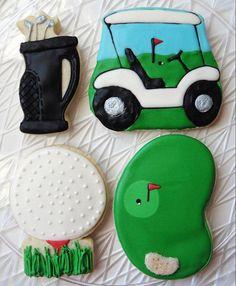 Golf Retirement Birthday Sugar Cookies1 Dozen by SugarSanctuary, $36.00