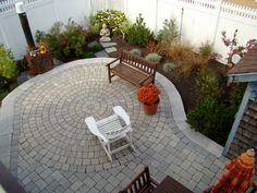 circular paver patio- small space