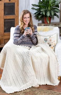 Who cares what the weather is outside when you have a nice cozy throw to keep you warm? This easy crochet pattern is created with just one color, so you can choose whatever shade yarn you desire for your surroundings.
