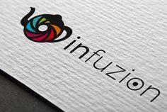 Logotype INFUZION // Sofia Doudine Graphiste Webdesigner B2B Freelance