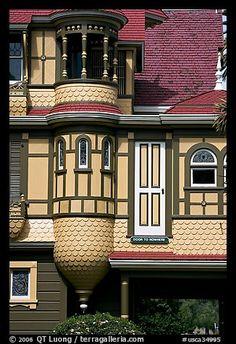 Door to nowhere. Winchester Mystery House, San Jose, California, USA