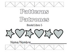 Free printable mini books to learn math in preK: Patterns/ Patrones