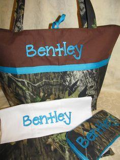 Handmade mossy oak camo diaper bag tote bag by creativesewing2, $69.99
