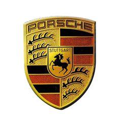 Porsche Cayenne Aluminum Car Logo Emblem Badge Sticker Decal