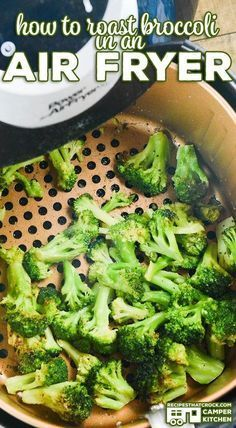 Are you looking for an easy Air Fryer Broccoli recipe? This post on how to roast broccoli in an air fryer is our very favorite way to cook up roasted broccoli! This savory side dish is such a quick and easy recipe for family meals. Easy air fryer low carb side dish recipe.
