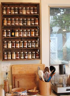 pallet wood spice shelf