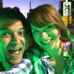 Neon pedi cab adventures #worktrip #marriagerocks
