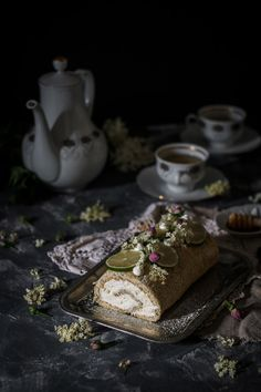 This poppy seed elderflower cake roll is a delicately light spring tea-time treat. Lime poppy seed sponge with elderflower mascarpone cream. Amazing Food Photography, Cake Photography, Single Layer Cakes, Fashion Cakes, Just Cakes, Elderflower, Holiday Cakes, Food Themes, Fancy Cakes