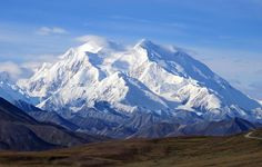 Denali (formerly Mount McKinley) in Denali National Park, photographed on <span>August 19, 2011</span>.