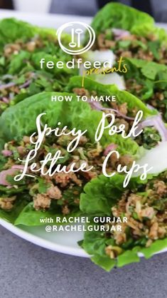 Looking for something flavorful that you can make in advance for your next backyard shindig? Say hello to these Ground Pork Lettuce Cups with Fresh Herbs and Spicy Dressing that our whipped up! Lettuce Recipes, Pork Recipes, Vegetarian Recipes, Keto Recipes, Chicken Recipes, Larb Recipe, Pork Salad, Lettuce Cups, Heart Healthy Recipes