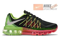 new styles efa21 b4952 Nike Air Max 2015 GS Chaussures de Running Pour Femme NoirVert 698903-005