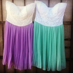 Spring fever!!!  Playing with pastels. #gojane #pastels #spring #dresses #accordion #pleated #lace #sweetheart #strapless