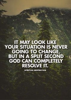 Never give up...God can resolve it.