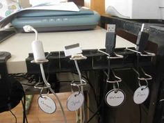 binder clips & taggings- home office organization