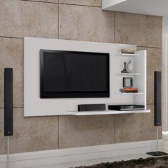 Além de apoiar a TV proporciona um charme a mais para a decoração.