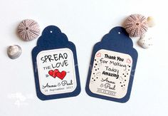 Items similar to 24 Spread The Love Wedding Personalized Tag _ Highly Personalizable Text in Your Language_ Blu Navy/Blush Place Card_ Geschenkanhänger on Etsy Wedding Pins, Wedding Wishes, Wedding Cards, Personalized Tags, Personalized Wedding, Shipping Date, Twine, Gift Tags, Card Stock