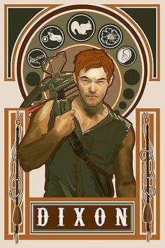 Daryl Dixon - The Walking Dead. Very cool artwork