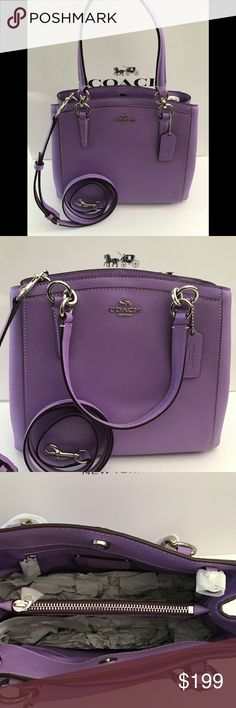 5464abb76e2 NWT COACH MINETTA CROSSBODY F57847 IRIS Product details Crossgrain leather  Inside zip and multifunction pockets Center