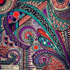 719 vind-ik-leuks, 6 reacties - SilenceLines Artwork (@silencelines.art) op Instagram: '#POSCA pens on canvas - 20 x 20 cm '