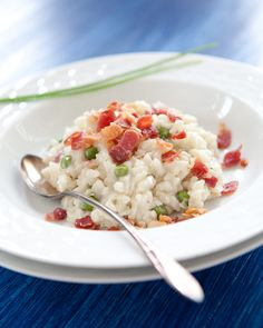 Gorgonzola Risotto with Peas and Bacon by St. Louis Photographer Jonathan Gayman