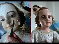 Religious Art, Art Sketchbook, Decoupage, Halloween Face Makeup, Angel, Crafts, Painting, Statues, Youtube