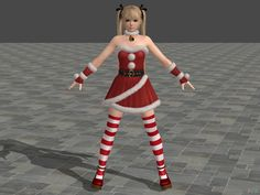 Marie Rose Santa's Helper costume (DLC) Dead or Alive 5 Ultimate For XNALara/XPS (Version 10.9.4 or above is required) Property of Tecmo/Team Ninja I don't own anything, I only extracted the model....