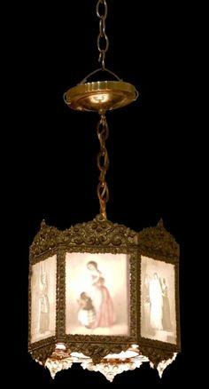 19th century lithophane light.  $1500