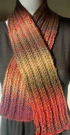 Ravelry: Mini Mochi Tripled Rib Stitch Scarf pattern by Susan Druding