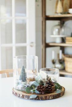 Simple Woodland Inspired Holiday Terrarium Tablescape-City Farmhouse