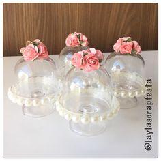 As mini cúpulas também ficaram um arraso de tão lindas! Por si só já exibem delicadeza e luxo! Que v - laylascrapfesta