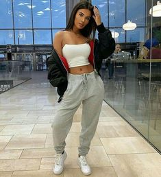 What's yours is mine, what's mine is mine 😁 👖👕🧢🎒Fashion Nova men tracksuit bottoms Source by danahkn outfits Chill Outfits, Cute Comfy Outfits, Crop Top Outfits, Sporty Outfits, Teen Fashion Outfits, Mode Outfits, Fashion Fashion, Classy Fashion, Cute Outfits With Sweatpants