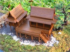 Village House Design, Village Houses, Tropical House Design, Tropical Houses, Rest House, House In The Woods, Chinese Architecture, Architecture Design, Thai House