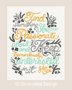 Julia Child Quote Illustration. by unraveleddesign on Etsy