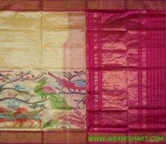 Pochampally-ikat-silk-Saree - POC00858