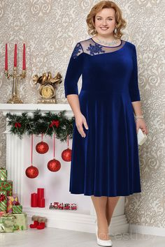 Платье Ninele 5486 василёк