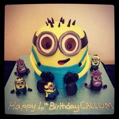 Minion Cake Kevin Minion Party Pinterest Minion cakes Cake