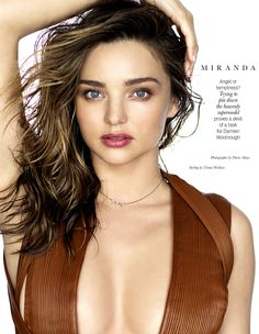 Miranda Kerr for ELLE Magazine - hair: Alan White stylist: Tiana Wallace makeup: Noni Smith ph: Patric Shaw  #hair #style #fashion #alanwhiteanthology