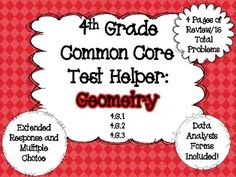 Geometry Common Core Test Prep for 4th Grade $
