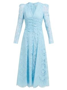 Great for Erdem Annalee cotton-blend Chantilly-lace gown Womens Clothing from top store Fashion Terms, Fashion 2018, Women's Fashion, Fall Dresses, Blue Dresses, Dresses With Sleeves, Wedding Dresses, Buy Dress, Dress Skirt