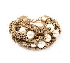 Mria Bracelet in Gold                             on Emma Stine Limited website