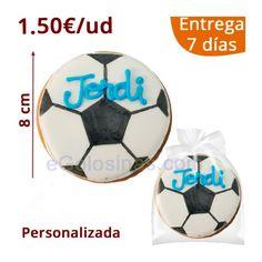 30 Galletas Balones de Futbol personalizadas en el nombre y color. Debes  indicarnos el Nombre c761eb61c7c8a