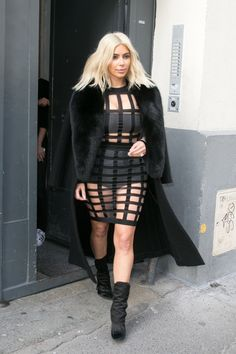 Out in Paris wearing Balmain. See the best of Kim Kardashian's 2015 outfits.