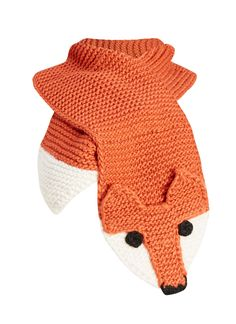 6d00221e65933 Our Foxy style is a knitted fox scarf featuring a woodland-inspired design  in a