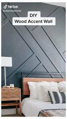 Accent Walls In Living Room, Accent Wall Bedroom, Living Room Decor, Living Room Wall Ideas, Feature Wall Bedroom, Feature Walls, Home Room Design, Home Interior Design, House Design