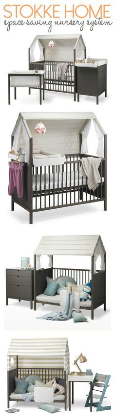 Me encanta la línea Stokke Home porque crece con el bebé y sirve tanto para espacios pequeños como grandes