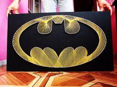 """Quadro """"Escudo do Batman"""""""