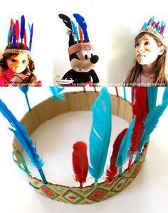 gorro de indio reciclado Diy For Kids, Crafts For Kids, Arts And Crafts, Indian Crafts, Preschool, Costumes, Creative, Classroom, Recycled Crafts