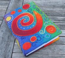 felted book cover