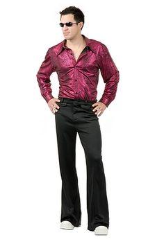 Disco Shirt Wine Red Skin Print Costume #Oyacostumes
