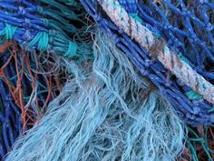 Fishing Nets - a big piece strung across a wall is a great way to display nautical items